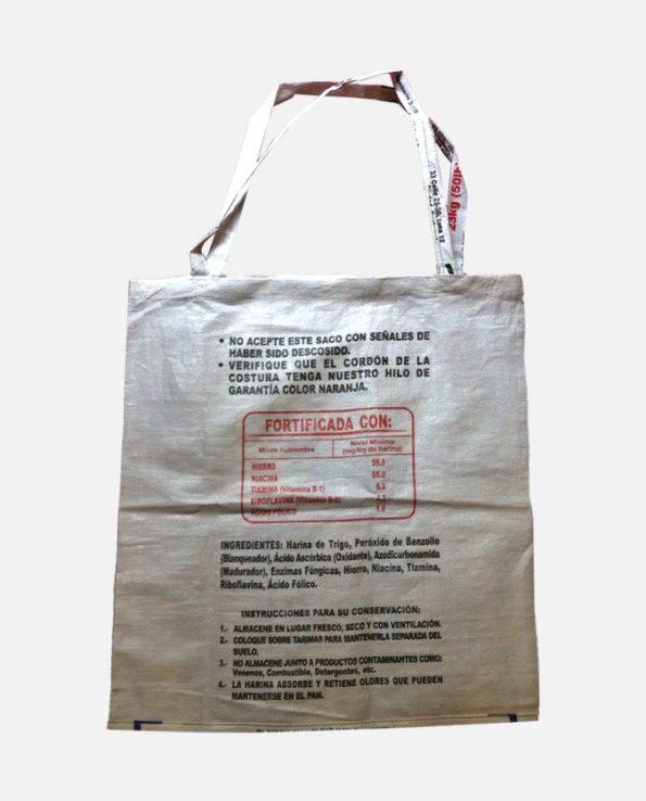sac cabas écologique recyclé El Gallo Azul - dos